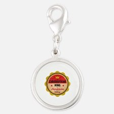 Cheese Steak King Silver Round Charm