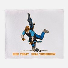 Ride Today Biking Throw Blanket