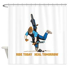 Ride Today Biking Shower Curtain