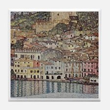 Malcesine On Lake Garda Tile Coaster