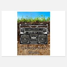 Underground Music Invitations