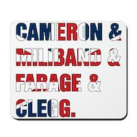 Cameron & Miliband & Farage & Clegg Mousepad