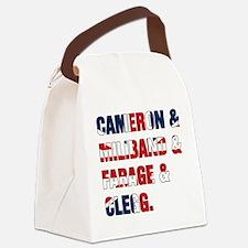 Cameron & Miliband & Farage & Clegg Canvas Lunch B