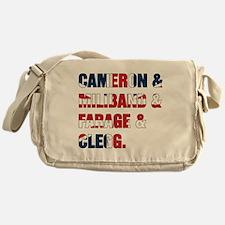 Cameron & Miliband & Farage & Clegg Messenger Bag