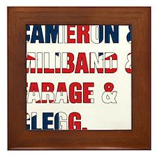 Cameron & Miliband & Farage & Clegg Framed Tile