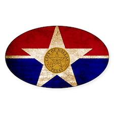 Vintage Flag of Dallas Texas Decal