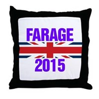 Nigel Farage 2015 General Election Throw Pillow