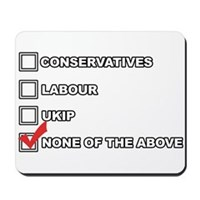 None Of The Above UK Election 2015 Mousepad