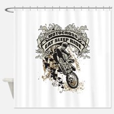Eat, Sleep, Ride Motocross Shower Curtain