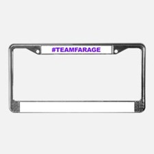Team Farage License Plate Frame
