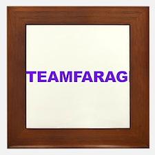 Team Farage Framed Tile