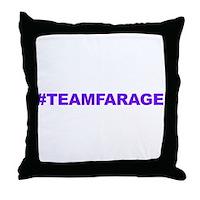 Team Farage Throw Pillow