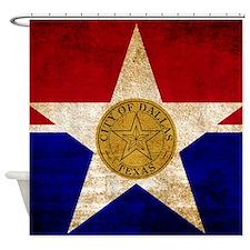 Vintage Flag of Dallas Texas Shower Curtain