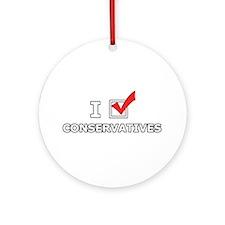 I Vote Conservatives Ornament (Round)