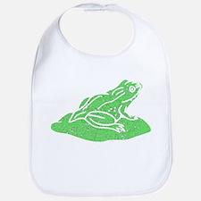 Distressed Green Frog On Lilypad Bib