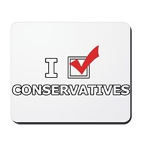 I Vote Conservatives Mousepad
