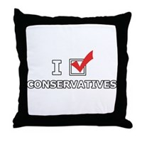 I Vote Conservatives Throw Pillow