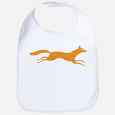 Distressed Orange Fox Bib