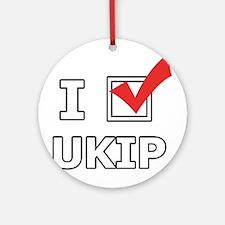 I Vote UKIP Ornament (Round)