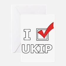 I Vote UKIP Greeting Cards