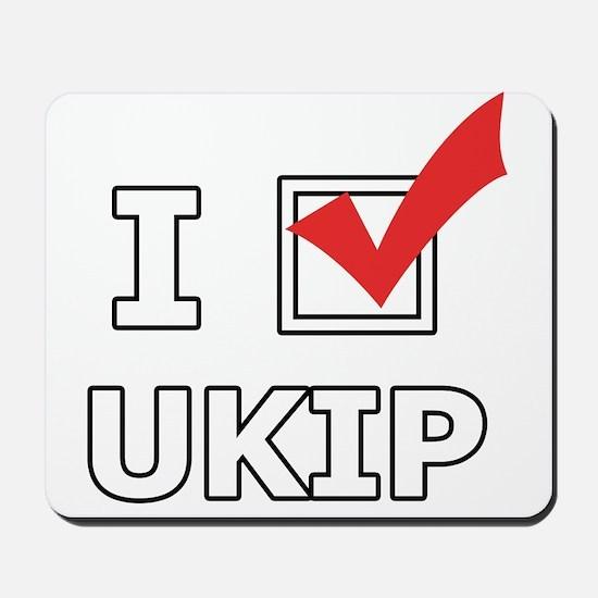 I Vote UKIP Mousepad