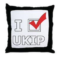 I Vote UKIP Throw Pillow