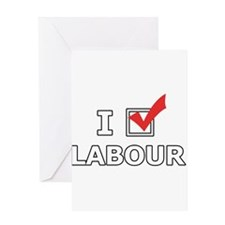 I Vote Labour Greeting Cards