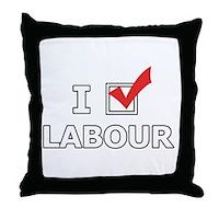I Vote Labour Throw Pillow