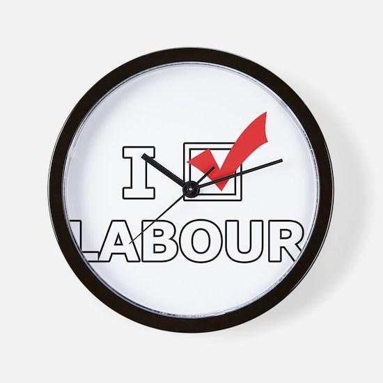 I Vote Labour Wall Clock