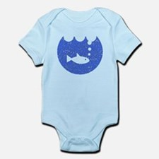 Distressed Blue Fish Bowl Body Suit