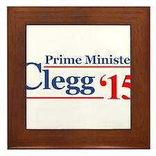 Clegg Prime Minister 2015 Framed Tile