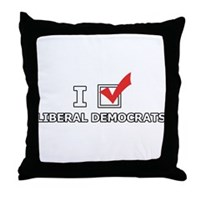 I Vote Liberal Democrats Throw Pillow