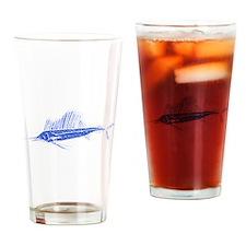 Distressed Blue Sail Fish Drinking Glass