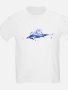 Distressed Blue Sail Fish T-Shirt