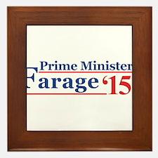 Farage 15 Prime Minister Framed Tile
