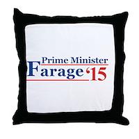 Farage 15 Prime Minister Throw Pillow