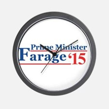 Farage 15 Prime Minister Wall Clock