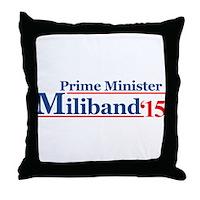 Miliband 15 Prime Minister Throw Pillow