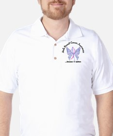 Male Breast Cancer Butterfly 6.1 T-Shirt