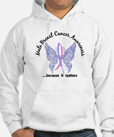 Male Breast Cancer Butterfly 6.1 Hoodie
