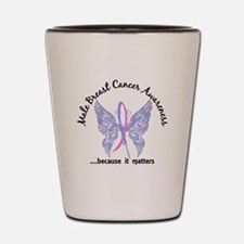 Male Breast Cancer Butterfly 6.1 Shot Glass