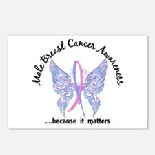 Male Breast Cancer Butter Postcards (Package of 8)