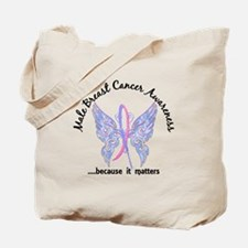 Male Breast Cancer Butterfly 6.1 Tote Bag