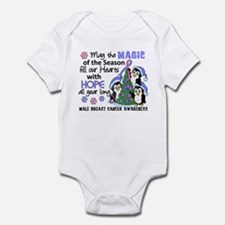 Holiday Penguins Male Breast Cancer Infant Bodysui