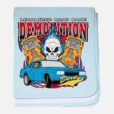 Demolition Derby baby blanket