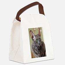 cornish rex blue Canvas Lunch Bag