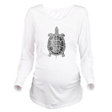 Turtle Vintage Long Sleeve Maternity T-Shirt