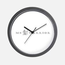 MS Warrior Female Warrior Silhouette Wall Clock