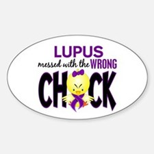 Lupus MessedWithWrongChick1 Sticker (Oval)