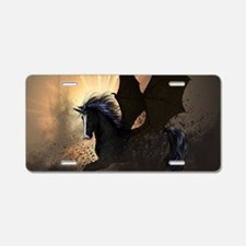 Beautiful dark unicorn Aluminum License Plate